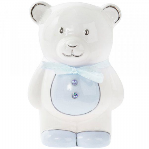 Teddy Money Bank Blue